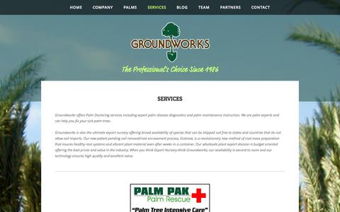 Screenshot of Services Page datepalm.com - Groundworks - Services - captured Oct. 3, 2014