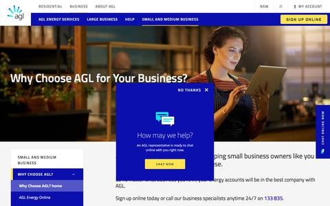 Why Choose AGL for Small & Medium Businesses | AGL