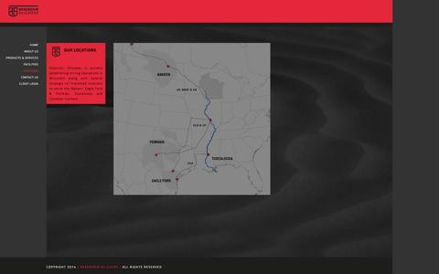 Screenshot of Locations Page reservoirsilicates.com - Reservoir Silicates | Locations - captured Oct. 8, 2014