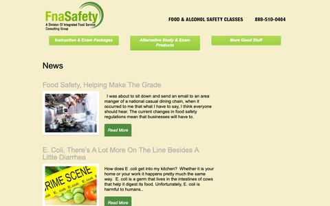 Screenshot of Press Page fnasafety.com - Food and Alcohol Safety Classes | - captured Nov. 14, 2018