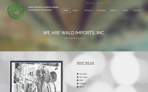 Screenshot of About Page waldimports.com - About Us | Wald Imports - captured Oct. 30, 2014