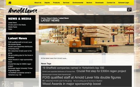 Screenshot of Press Page laver.co.uk - Latest News - captured Oct. 4, 2014