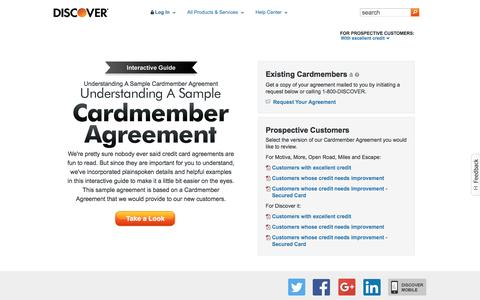 A Sample Cardmember Agreement | Discover Card