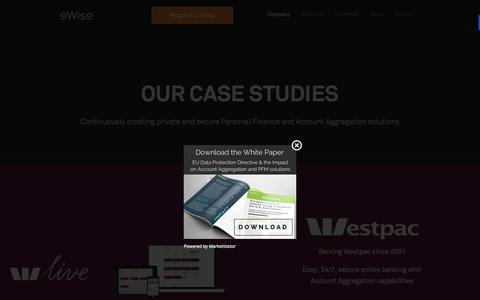 Screenshot of Case Studies Page ewise.com - Customers Case Studies - captured Dec. 3, 2015
