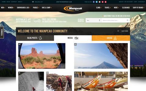 Screenshot of Press Page mainpeak.com.au - Media / Mainpeak | Australia's Outdoor Clothing, Equipment & Adventure Store | Mainpeak - captured Feb. 4, 2016
