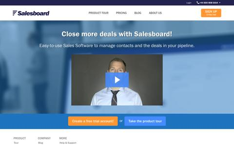 Screenshot of Home Page salesboard.com - Salesboard - captured Sept. 16, 2015