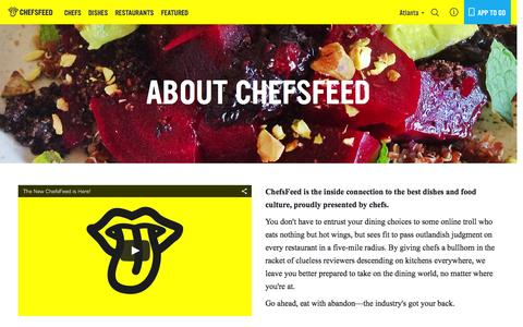 Screenshot of About Page chefsfeed.com - About Us   ChefsFeed - captured Nov. 14, 2015