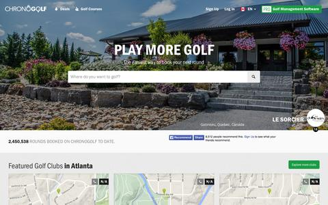 Screenshot of Home Page chronogolf.ca - Best Golf Courses, Discounted Tee Time in Canada | CHRONOGOLF - captured Nov. 3, 2015