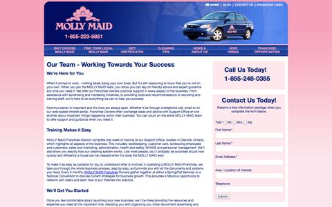 Screenshot of Team Page mollymaid.ca - Start Your Maid Services Career with Molly Maid   Our Team   mollymaid.ca - captured Oct. 26, 2014