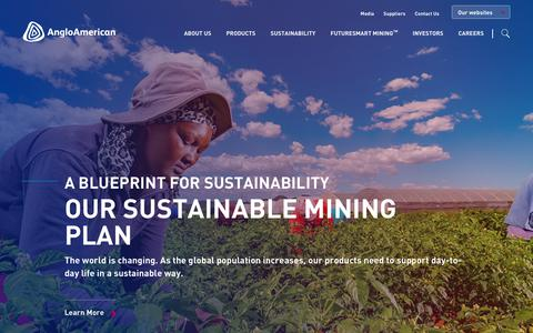 Screenshot of Home Page angloamerican.com - Anglo American - captured July 13, 2019