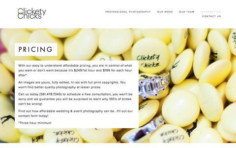 Screenshot of Pricing Page clicketychicks.com - Pricing Ń Clickety Chicks - captured Dec. 9, 2015