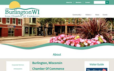Screenshot of About Page burlingtonchamber.org - About | Burlington Chamber of Commerce - captured Oct. 11, 2017