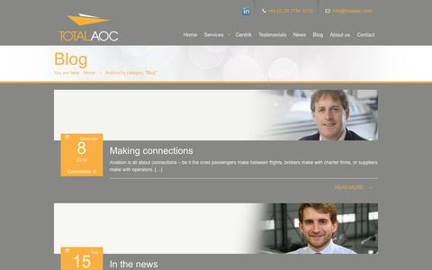 Screenshot of Blog totalaoc.com - Blog | Total AOC - captured Oct. 7, 2014