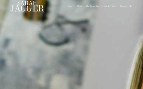 Screenshot of Home Page sarahjagger.co.uk - Sarah Jagger | Beauty Blogger & Fashion Makeup Artist |  London - captured Dec. 11, 2015