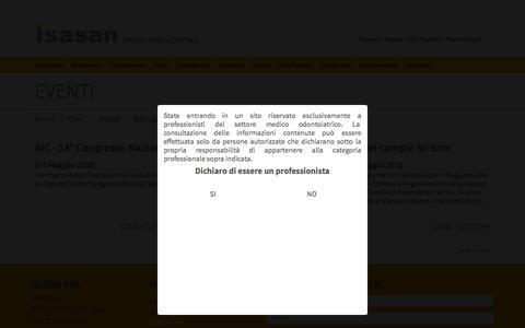Screenshot of Press Page isasan.com - Eventi | Isasan - captured June 1, 2016