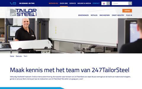 Screenshot of Team Page 247tailorsteel.com - Team - 247TailorSteel - captured June 11, 2017