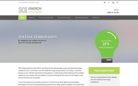 Screenshot of Home Page sce-energysolutions.com.au - SCE Energy Solutions Home - SCE Energy Solutions - captured Dec. 5, 2015