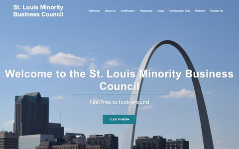 Screenshot of Home Page slmbc.org - St. Louis Minority Business Council - captured Nov. 16, 2018
