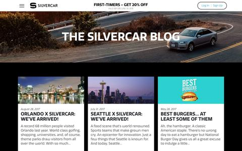 Screenshot of Blog silvercar.com - The Silvercar Blog | Silvercar - captured June 2, 2018