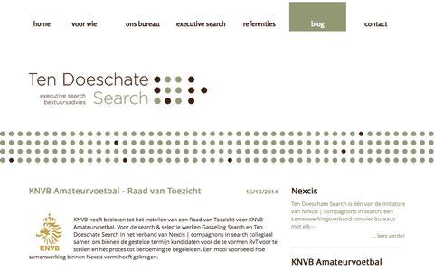 Screenshot of Blog tdsearch.nl - Blog - captured Nov. 5, 2014