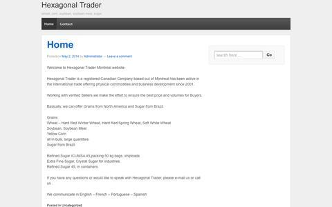 Screenshot of wordpress.com - Hexagonal Trader | wheat, corn, soybean, soybean meal, sugar - captured Oct. 10, 2014
