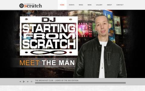 Screenshot of Home Page startingfromscratch.com - DJ Starting From Scratch - World Famous - captured Sept. 26, 2014