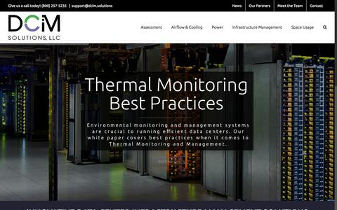 Screenshot of Home Page dcim.solutions - DCIM Solutions | Data Center Infrastructure Management - captured June 30, 2016
