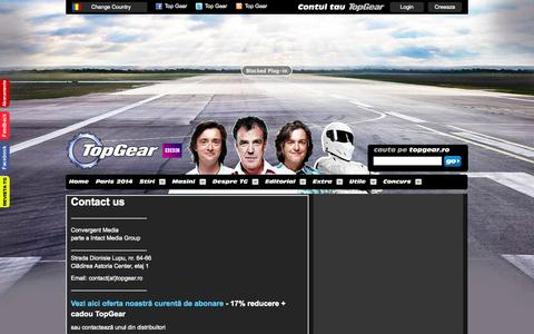 Screenshot of Contact Page topgear.ro - Top Gear - Contact us - captured Oct. 27, 2014