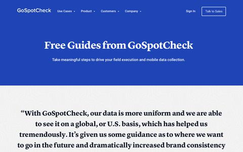 Field Sales Management Resource Library  | GoSpotCheck