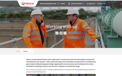 Screenshot of Jobs Page veolia.co.uk - Working with us | Veolia UK - captured Dec. 22, 2018