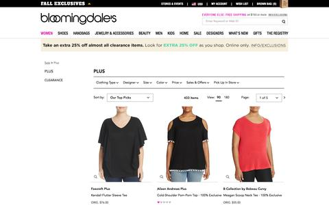 Designer Plus Size Clothing - Bloomingdale's