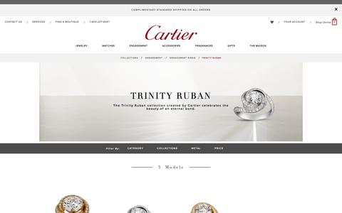 Cartier Trinity Ruban diamond engagement ring: prices and models - Cartier