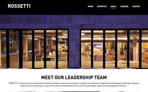Screenshot of About Page Team Page rossetti.com - ROSSETTI Team | ROSSETTI - captured Sept. 21, 2018