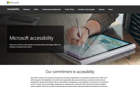 Screenshot of microsoft.com - Accessibility for Software and Devices   Microsoft - captured Aug. 22, 2017