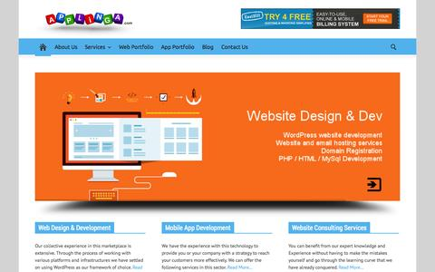 Screenshot of Home Page applinga.com - Website & Mobile Application Development Company - Applinga - captured Sept. 25, 2014