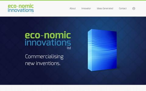 Screenshot of Home Page eco-nomics.uk.com - Eco-nomic Innovations Ltd - captured Oct. 1, 2014