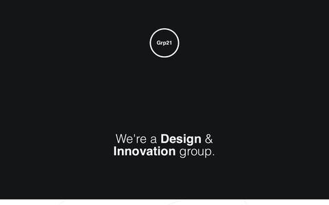 Screenshot of Home Page grp21.com - Grp21 - Innovation Group - captured Dec. 14, 2015