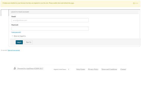 Screenshot of Login Page appdirect.com - Log In | AppDirect - captured June 1, 2017