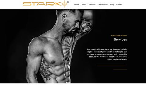 Screenshot of Services Page starknation.com - Personal Training at Stark - captured Nov. 4, 2017