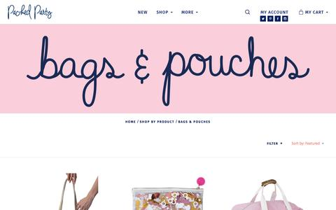Screenshot of packedparty.com - BAGS & POUCHES - captured May 12, 2017