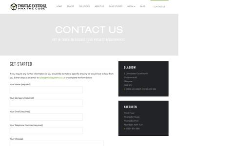 Screenshot of Contact Page thistlesystems.co.uk - Get Started - Thistle Systems - captured Dec. 23, 2016