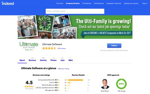 Ultimate Software Careers and Employment | Indeed.com