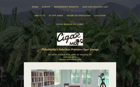 Screenshot of Contact Page cigar-mojo.com - Join Our Mailing List Ń Cigar Mojo - captured Dec. 8, 2015