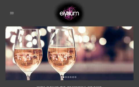 Screenshot of Home Page elysiumgroup.co.uk - Elysium – The Elysium Group - captured July 18, 2018