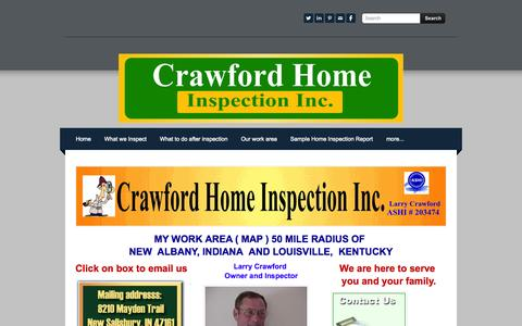 Screenshot of Contact Page weebly.com - Contact us - Home Inspection,Termite,Septic System,Radon,Well testing - captured Sept. 17, 2014