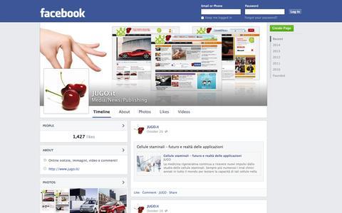 Screenshot of Facebook Page facebook.com - JUGO.it | Facebook - captured Oct. 23, 2014