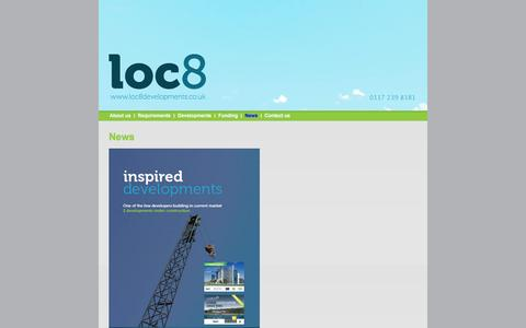 Screenshot of Press Page loc8developments.co.uk - Contact us | Loc8 Developments - South West based property developers - captured Oct. 1, 2014