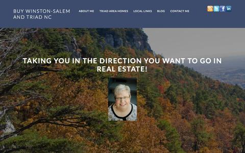Screenshot of Home Page buywinston-salem.com - Buy Winston-Salem and Triad NC - Ellen Dudley will Take YOU in the Direction YOU Want to GO in REAL ESTATE! - captured Sept. 20, 2015