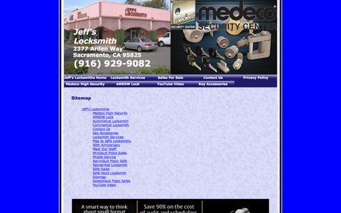 Screenshot of Site Map Page jeffslocksmiths.com - Sitemap - captured Jan. 9, 2016