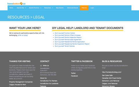 Screenshot of Terms Page homebutton.ca - Resources | Legal | Landlord and Tenant Documents - captured Jan. 31, 2016